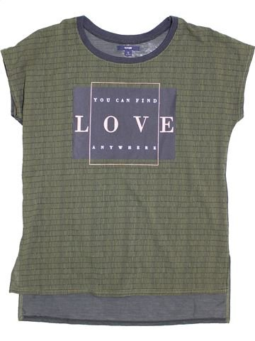 T-shirt manches courtes fille KIABI gris 14 ans été #1398361_1