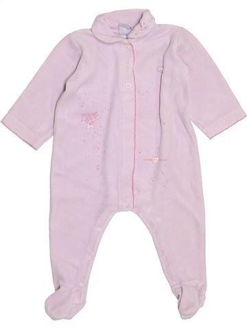 Pijama de 1 pieza niña PETIT BATEAU blanco 12 meses invierno #1398426_1