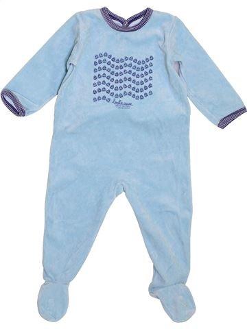 Pyjama 1 pièce garçon PETIT BATEAU bleu 18 mois hiver #1399126_1
