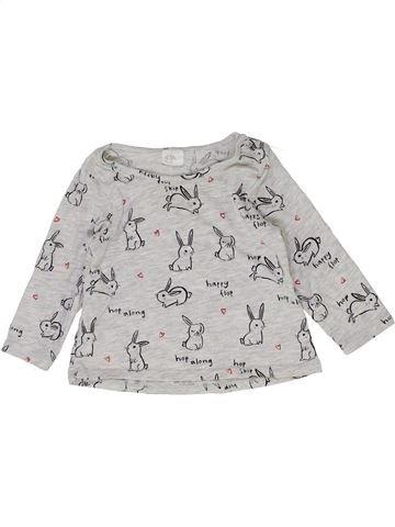 T-shirt manches longues fille H&M gris 6 mois hiver #1399588_1