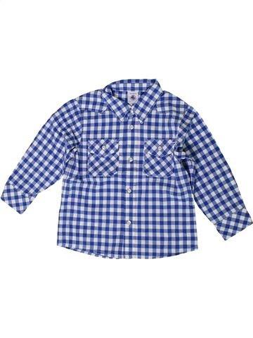 Camisa de manga larga niño PETIT BATEAU azul 3 años invierno #1399642_1