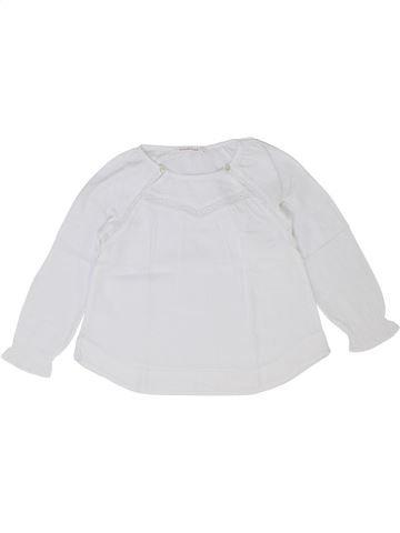 Blusa de manga larga niña MONOPRIX blanco 4 años invierno #1399678_1