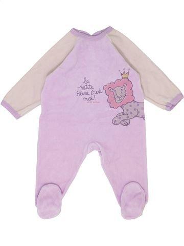 Pyjama 1 pièce fille PETIT BATEAU rose 12 mois hiver #1399712_1