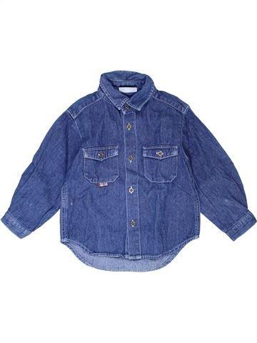 Chemise manches longues garçon DPAM bleu 2 ans hiver #1399815_1