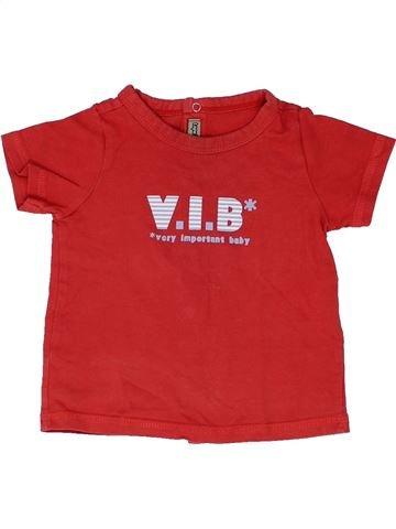 T-shirt manches courtes garçon TAPE À L'OEIL rouge 6 mois été #1399817_1