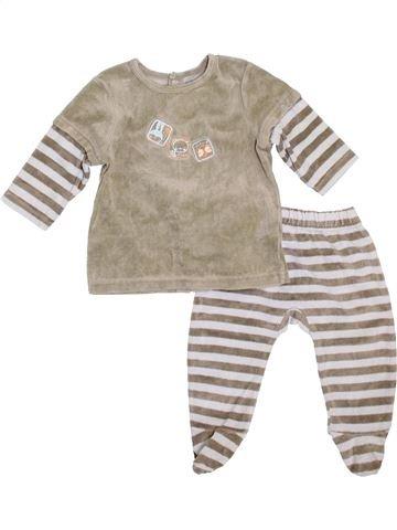 Pyjama 2 pièces garçon VERTBAUDET gris 12 mois hiver #1399929_1