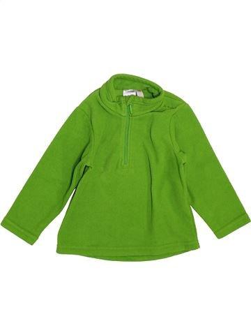 Pull garçon QUECHUA vert 18 mois hiver #1399939_1
