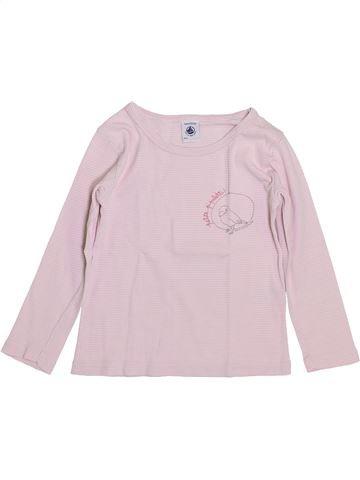 T-shirt manches longues fille PETIT BATEAU rose 4 ans hiver #1399945_1