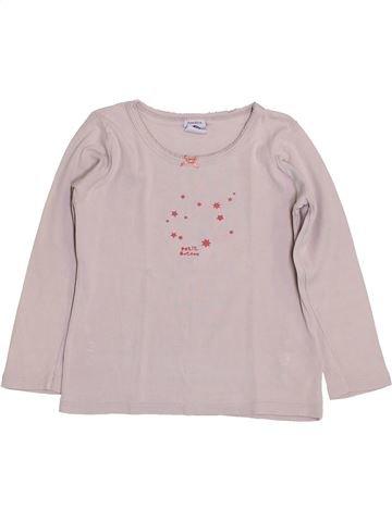 T-shirt manches longues fille PETIT BATEAU rose 4 ans hiver #1399948_1
