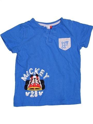 T-shirt manches courtes garçon DISNEY bleu 4 ans été #1400000_1
