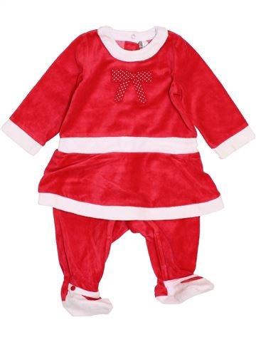 Pijama de 1 pieza niña ORCHESTRA blanco 9 meses invierno #1400107_1
