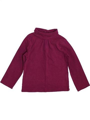 T-shirt col roulé fille DPAM violet 2 ans hiver #1400328_1