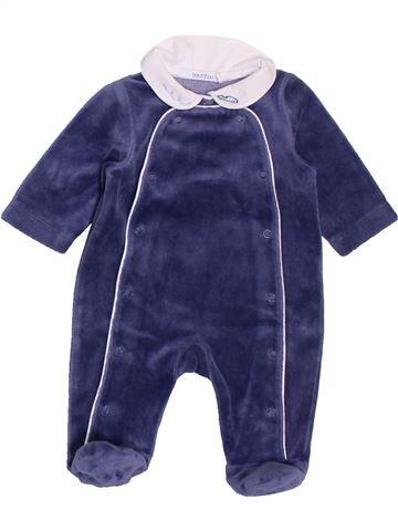 Pijama de 1 pieza niño BOUT'CHOU azul 0 meses invierno #1400449_1
