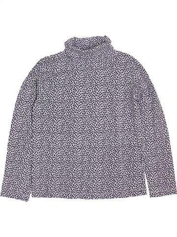 T-shirt col roulé fille MONOPRIX gris 8 ans hiver #1400510_1