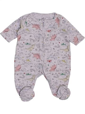 Pyjama 1 pièce garçon NATALYS gris naissance été #1400593_1