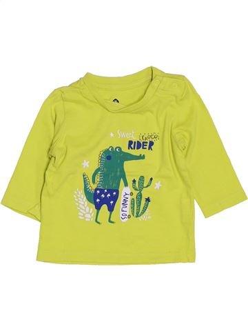 Camiseta de manga larga niño GRAIN DE BLÉ verde 3 meses invierno #1400604_1