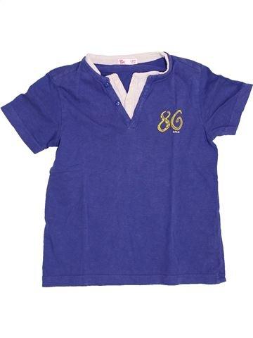 T-shirt manches courtes garçon DPAM bleu 5 ans été #1400679_1