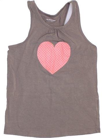 Camiseta sin mangas niña VERTBAUDET gris 8 años verano #1400683_1
