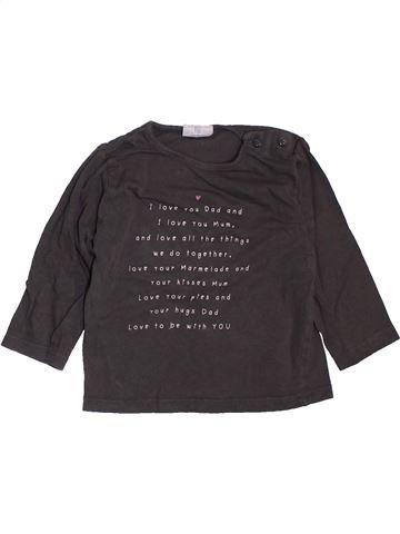 T-shirt manches longues fille KIABI marron 12 mois hiver #1400782_1