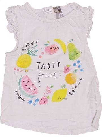 T-shirt manches courtes fille ORCHESTRA blanc 12 mois été #1400786_1