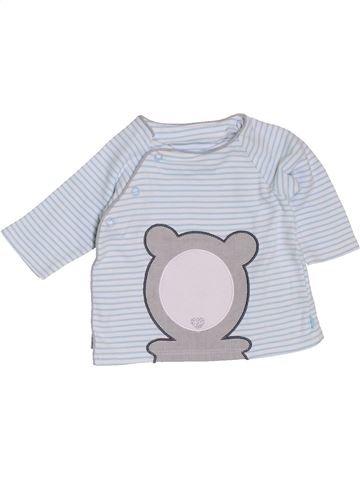 T-shirt manches longues garçon OKAIDI blanc 3 mois hiver #1400789_1