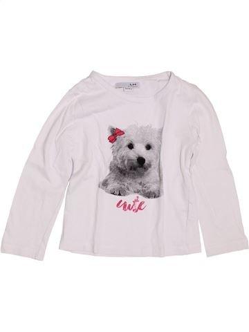 T-shirt manches longues fille LH BY LA HALLE blanc 5 ans hiver #1400866_1