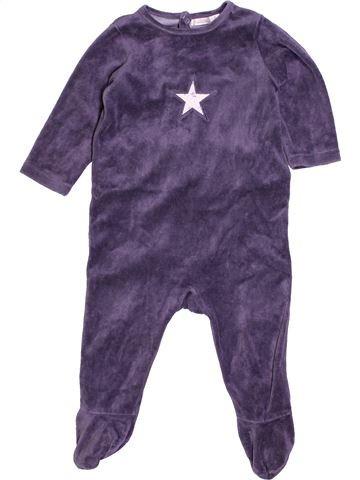 Pijama de 1 pieza niño BOUT'CHOU violeta 12 meses invierno #1400903_1