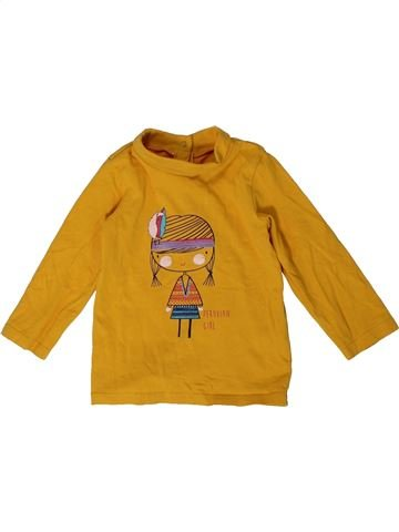 T-shirt col roulé fille ORCHESTRA marron 12 mois hiver #1400966_1