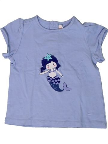 T-shirt manches courtes fille DPAM bleu 12 mois été #1400970_1