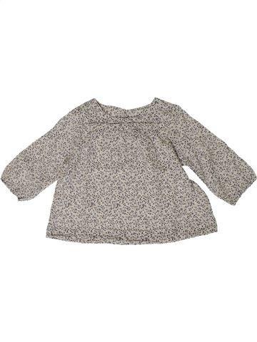 Blusa de manga larga niña BOUT'CHOU gris 9 meses invierno #1401000_1