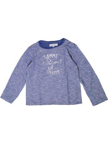 T-shirt manches longues garçon CADET ROUSSELLE gris 5 ans hiver #1401015_1