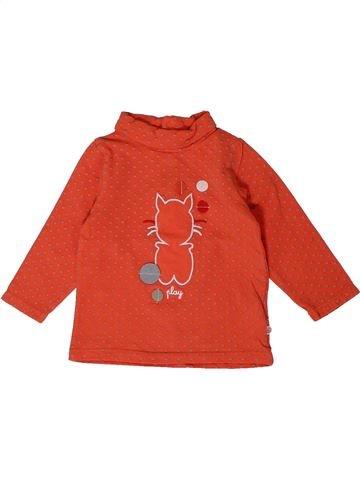 Camiseta de cuello alto niña OKAIDI rojo 6 meses invierno #1401033_1