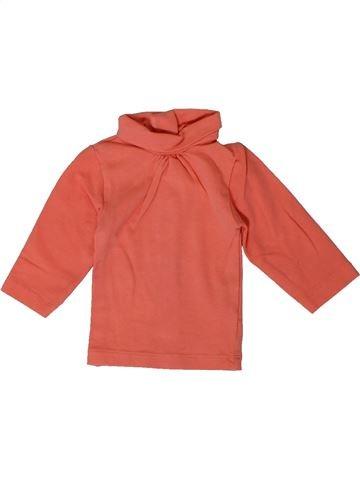 Camiseta de cuello alto niña KIABI rosa 1 mes invierno #1401037_1