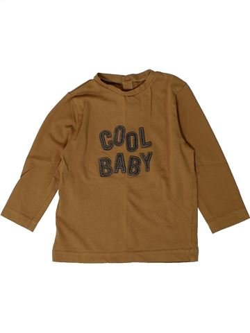 T-shirt manches longues garçon BOUT'CHOU marron 18 mois hiver #1401057_1