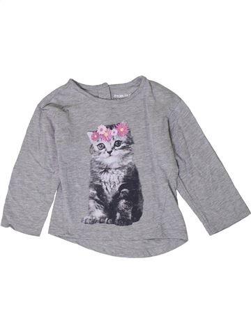 T-shirt manches longues fille ORCHESTRA gris 2 ans hiver #1401098_1