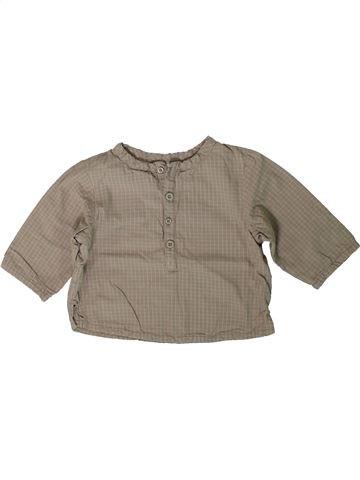 Chemise manches longues garçon VERTBAUDET gris 6 mois hiver #1401117_1
