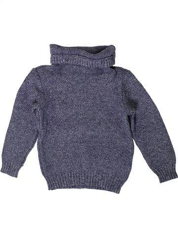 Pull garçon OKAIDI bleu 4 ans hiver #1401119_1