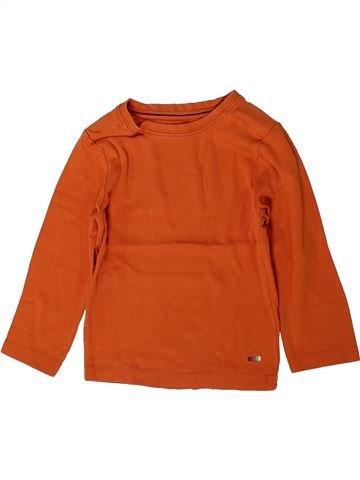 T-shirt manches longues garçon KIABI orange 4 ans hiver #1401125_1