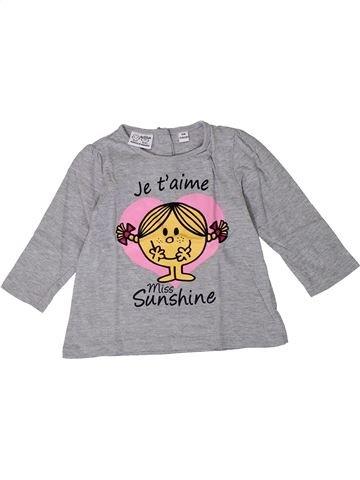 T-shirt manches longues fille MONSIEUR MADAME gris 18 mois hiver #1401167_1