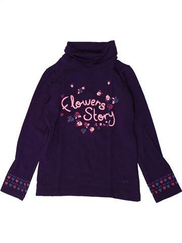 T-shirt col roulé fille LISA ROSE violet 3 ans hiver #1401171_1