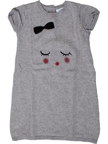 Robe fille KIMBALOO gris 2 ans hiver #1401175_1