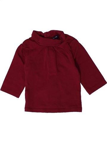 Camiseta de cuello alto niña KIABI violeta 3 meses invierno #1401191_1