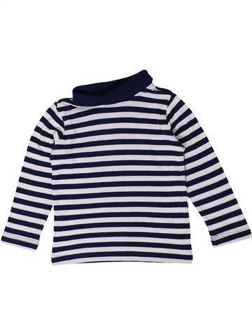T-shirt col roulé garçon VERTBAUDET blanc 3 ans hiver #1401243_1