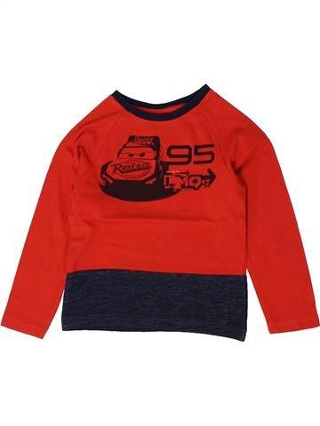 T-shirt manches longues garçon DISNEY rouge 3 ans hiver #1401245_1