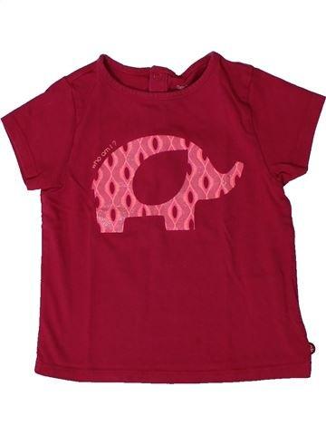 T-shirt manches courtes fille OKAIDI rouge 18 mois été #1401380_1