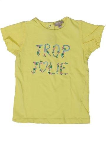 T-shirt manches courtes fille GRAIN DE BLÉ jaune 18 mois été #1401382_1