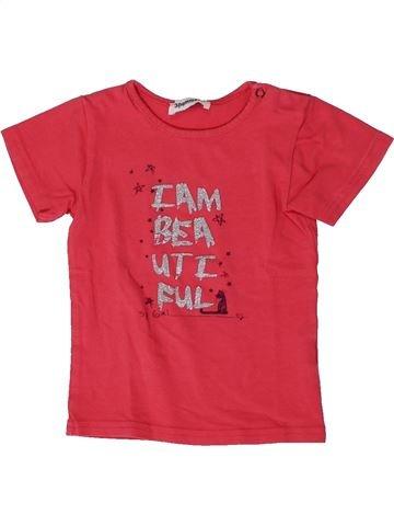 T-shirt manches courtes fille 3 POMMES rose 18 mois été #1401386_1