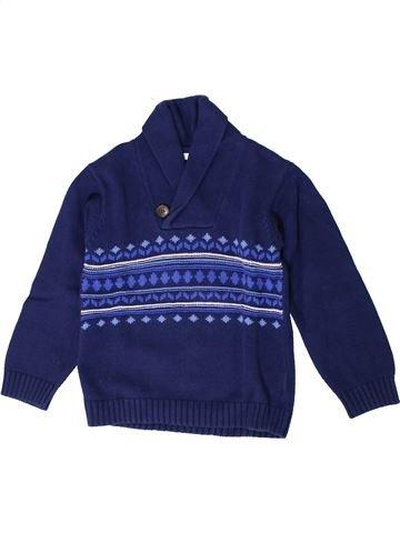 Pull garçon DPAM bleu 6 ans hiver #1401409_1