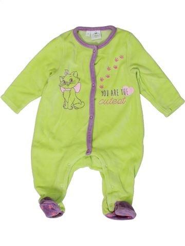 Pyjama 1 pièce fille DISNEY vert 3 mois hiver #1401439_1