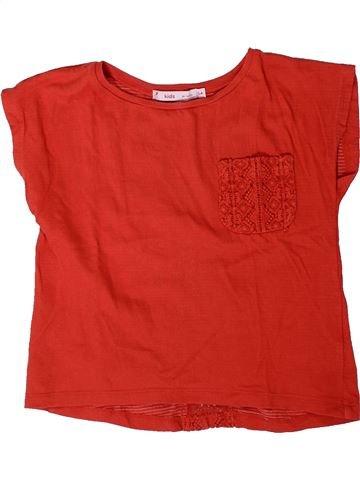 Camiseta de manga corta niña GEMO rojo 6 años verano #1401446_1
